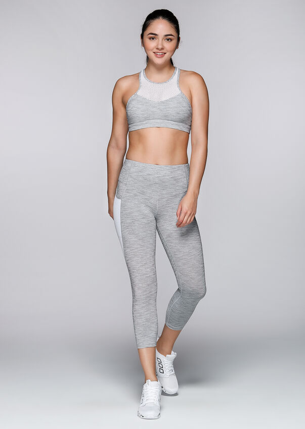 Move Freely Sports Bra, Grey Marl Stripe, hi-res