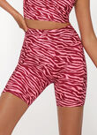 AmyPhone PocketBike Short, Bright Zebra Print, hi-res