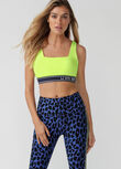 LJ Athletic League Sports Bra, Neon Lemon Sorbet, hi-res