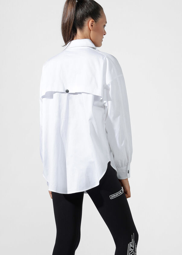 Hype Girl Shacket, White, hi-res