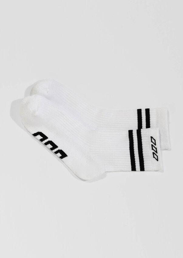 LJ Retro Crew Sock, White/Black, hi-res