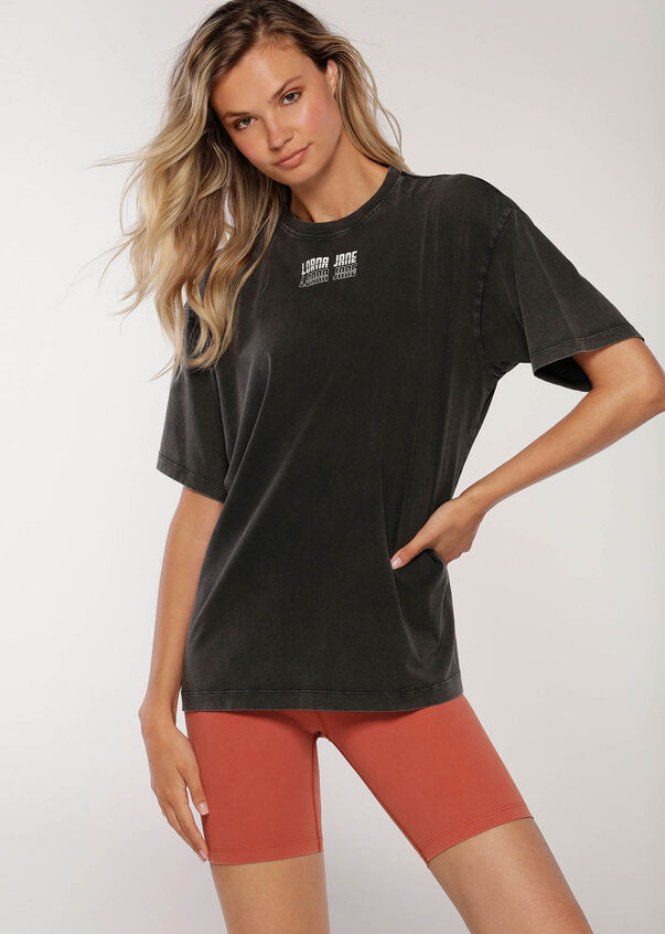 Retro Classic Oversized Tee, Black, hi-res