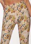 Boho Floral Ankle Biter Leggings, Boho Floral Print, hi-res