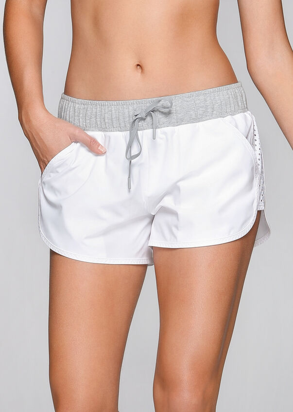 High Speed Run Short, White/Grey Marl, hi-res