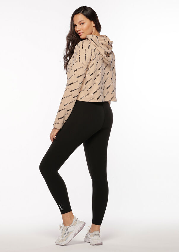 Iconic Cropped Hoodie, Almond, hi-res