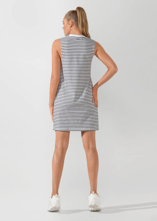 Iconic Everywhere Dress, White / French Navy, hi-res