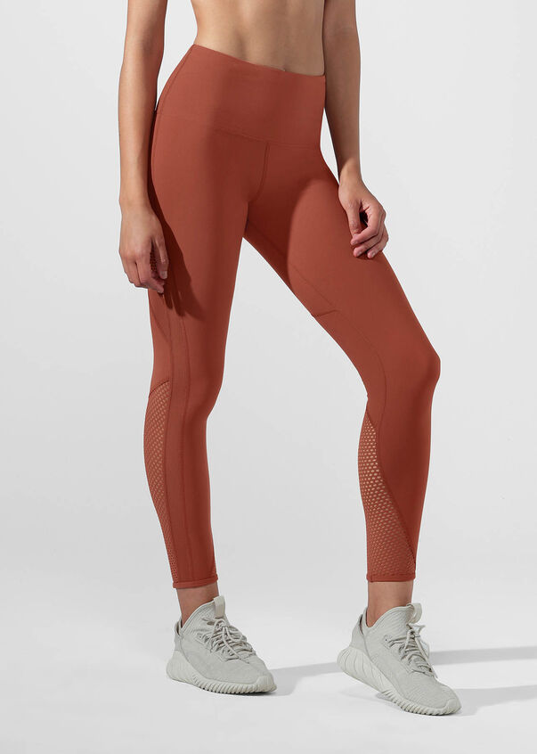 Fierce Booty Support Ankle Biter Tight, RUST, hi-res