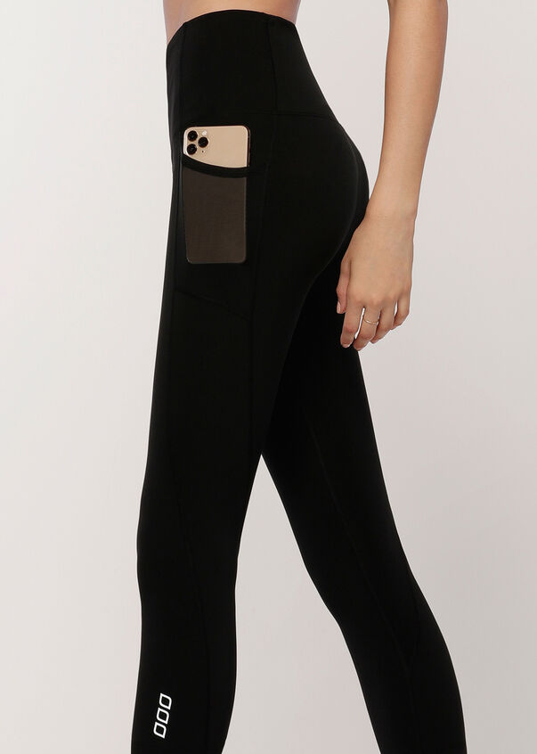Eco Everyday Phone Pocket 7/8 Leggings, Black, hi-res