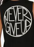 Never Give Up Tank, Black, hi-res