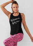 Weekend Slouchy Gym Tank, Black, hi-res