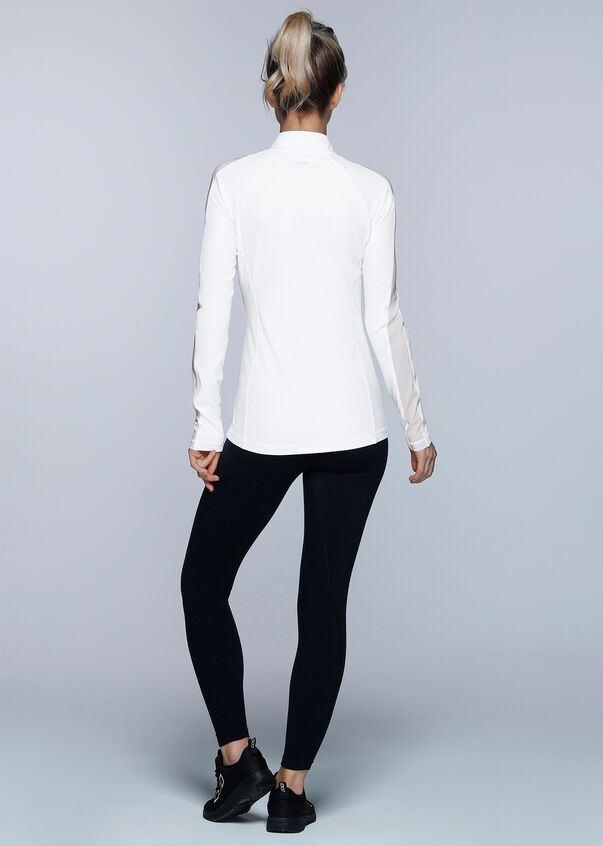 Fit and Fierce Zip Through, White, hi-res