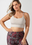 On Repeat Sports Bra, Off White Marl, hi-res