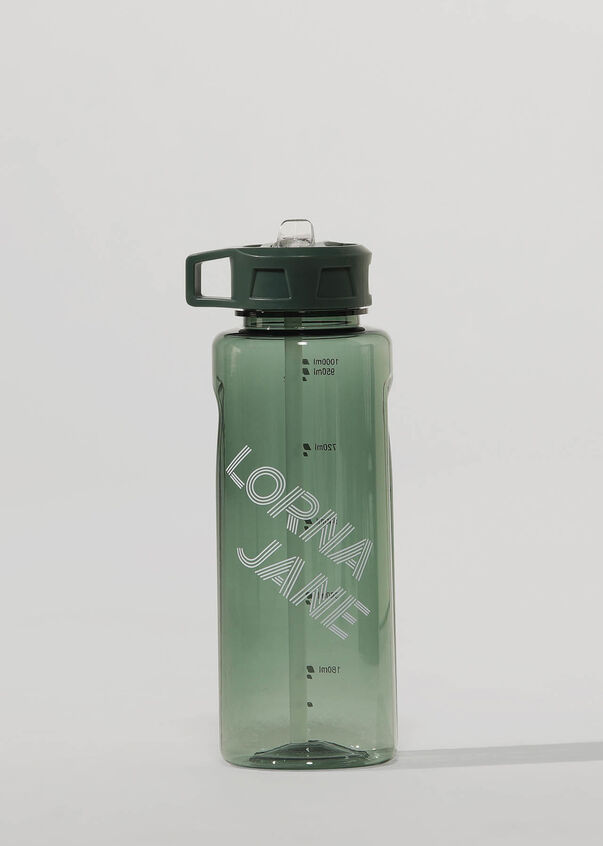 Lorna Jane 1L Water Bottle, Military, hi-res