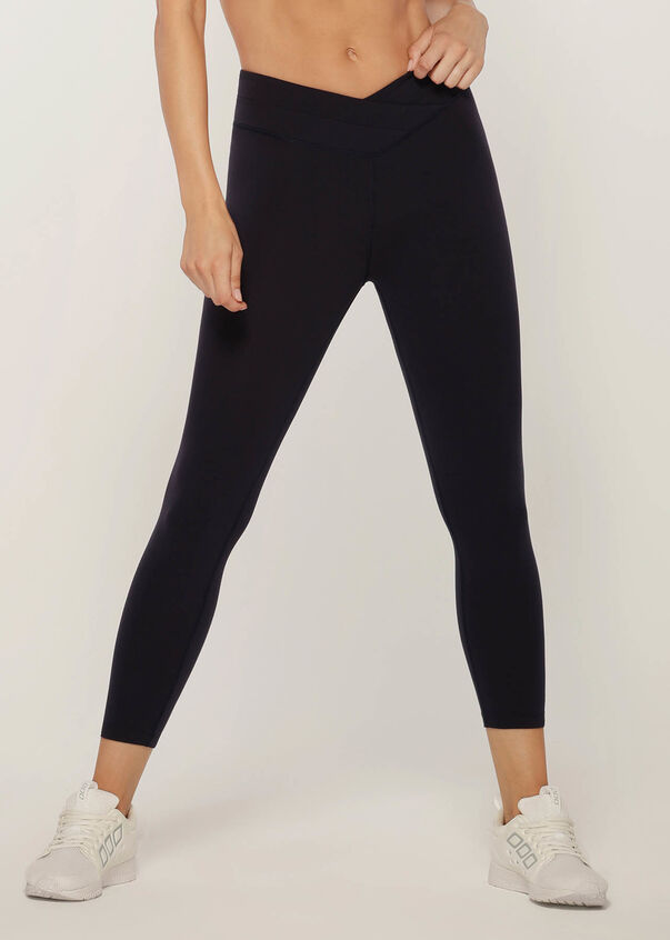 Wrap Waistband Ankle Biter Tight, French Navy, hi-res