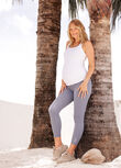 LJ Maternity Phone Pocket Ankle Biter Leggings, Powder Grey, hi-res