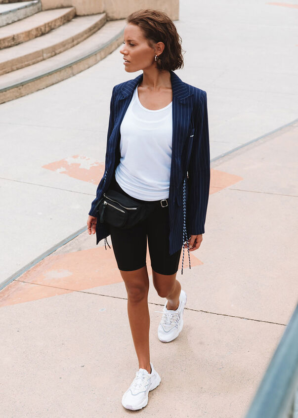 It Girl Boyfriend Blazer, French Navy/White, hi-res