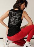 Never Look Back Muscle Tank, Black, hi-res