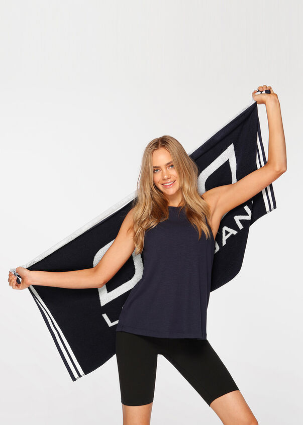 Workout Towel, French Navy, hi-res