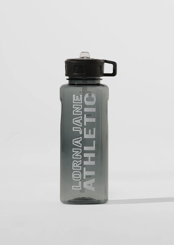 LJ Athletic 1L Water Bottle, Black, hi-res