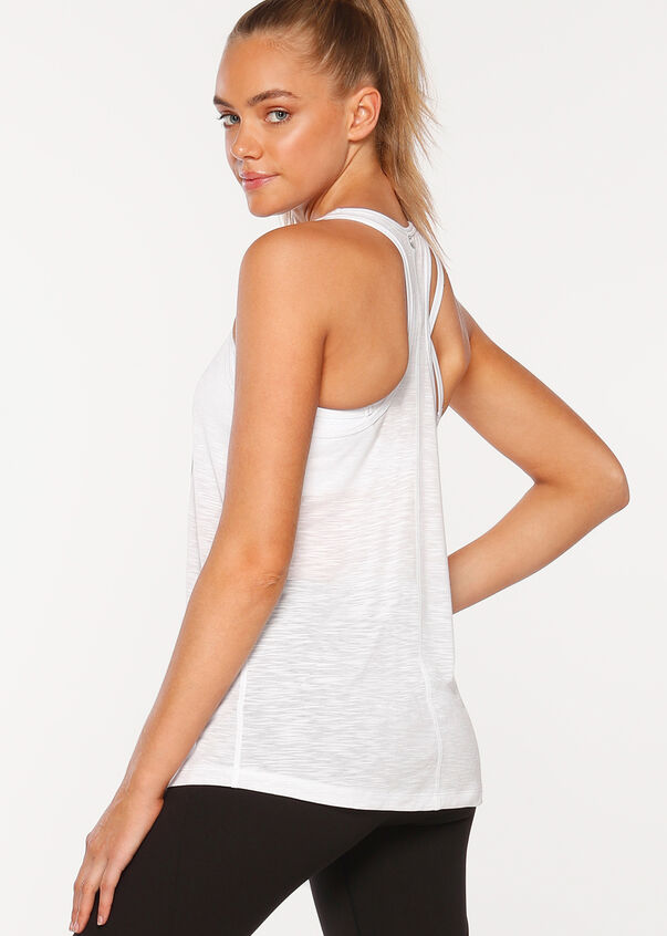 Addicted To Netball Tank, White, hi-res