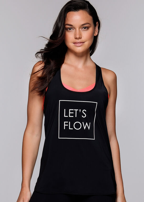 Let's Flow Active Tank, Black, hi-res