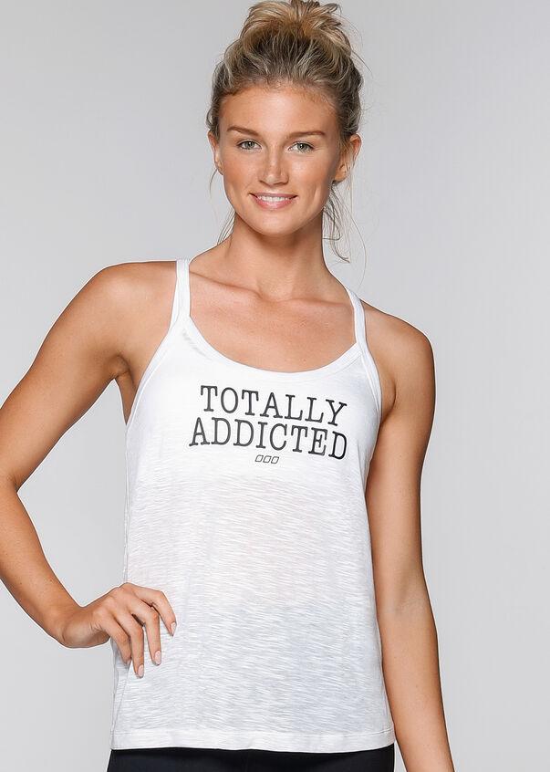 Cardio Addict Tank, White, hi-res