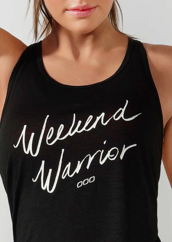 Weekend Slouchy Gym Tank, Black, hi-res