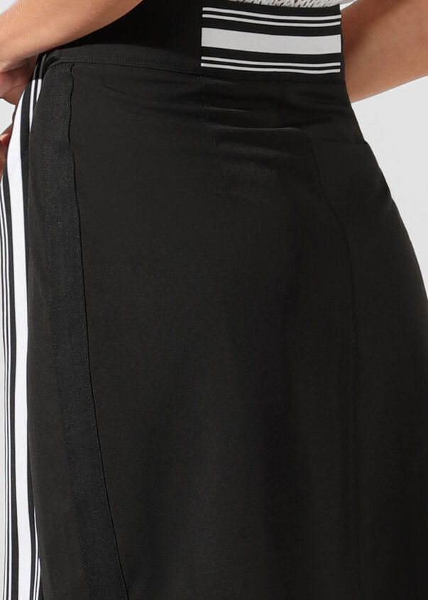 Statement Wrap Skirt, Black, hi-res