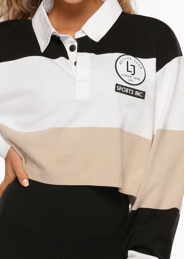 Team LJ Rugby Top, Black Stripe, hi-res