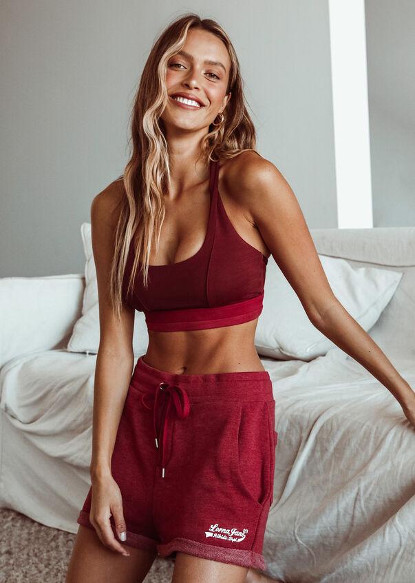 Complete Comfort Sweat Short, Dark Red Marl, hi-res