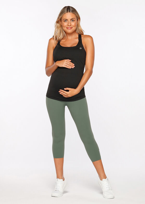 All Day Comfort Maternity Tank, Black, hi-res