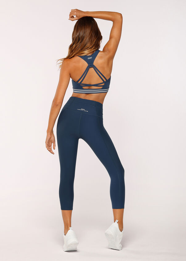 Power Up Sports Bra, Pebble Blue, hi-res