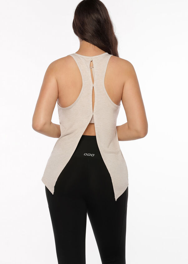 Function Open Back Active Tank, Off White Marl, hi-res