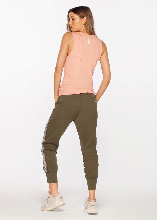 Athleisure Active Stripe Pant, Pale Olive, hi-res