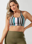 Candy Comfort Sports Bra, Candy Stripe Print, hi-res