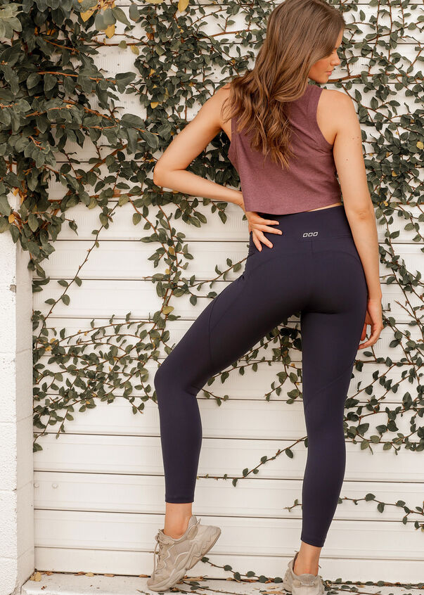 Amy Phone Pocket Leggings, French Navy, hi-res