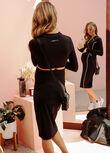 Active Cut Out Dress, Black, hi-res