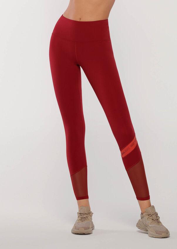 Colour Block Core Full Length Leggings, Cherry Multi, hi-res