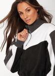 Half Zip Polar Fleece, Black/Titanium, hi-res