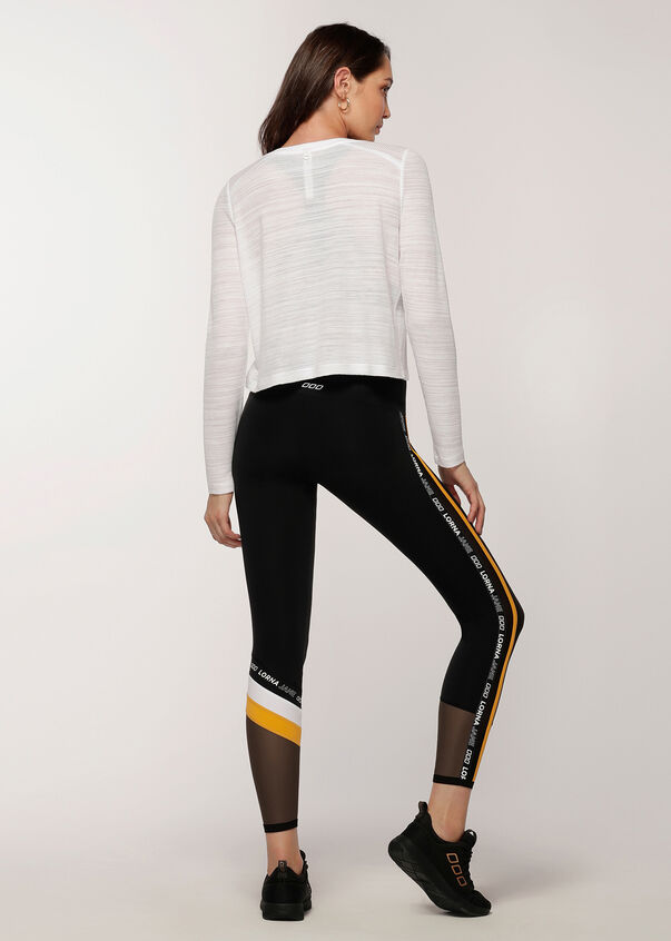 Waffle Knit Cropped Pullover, White, hi-res