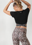 Fearless Cropped Active Tee, Black, hi-res
