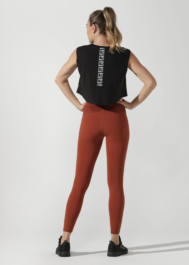 Move Easy Cropped Tank, Black, hi-res