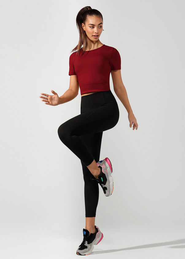 Workout Bare Minimum Active Tee, Cherry, hi-res