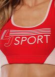 Retro LJ Sports Bra, Pale Peony / Paprika, hi-res