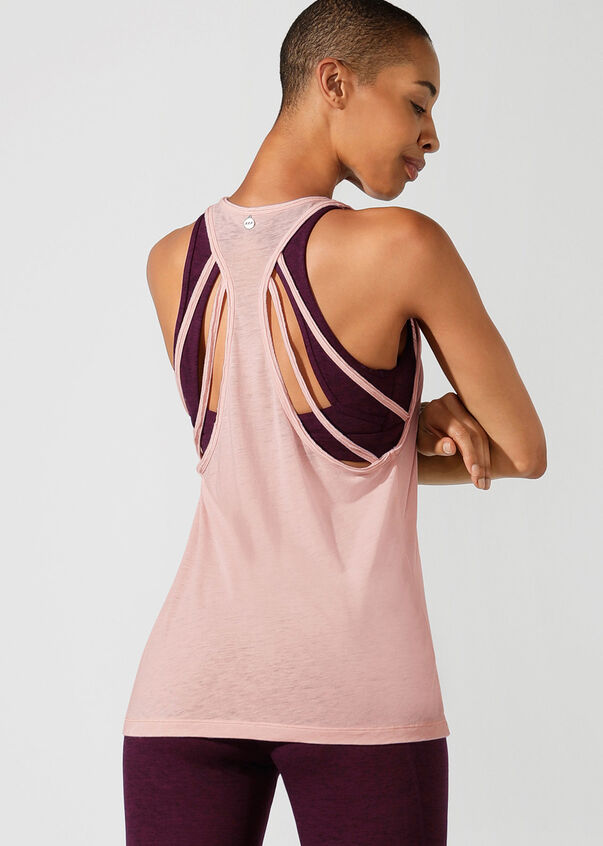 Move With Ease Tank, Dark Dusty Pink, hi-res
