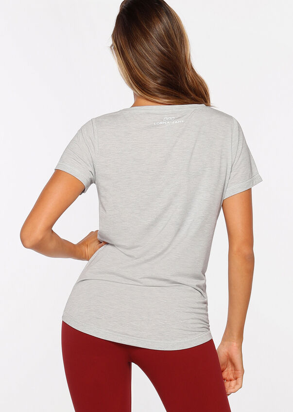 Workout Active Tee, Grey Marl, hi-res