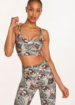 Compress And Compact Sports Bra, Vintage Bloom Print, hi-res