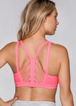 Inspire Support Sports Bra, Tropical Peach, hi-res