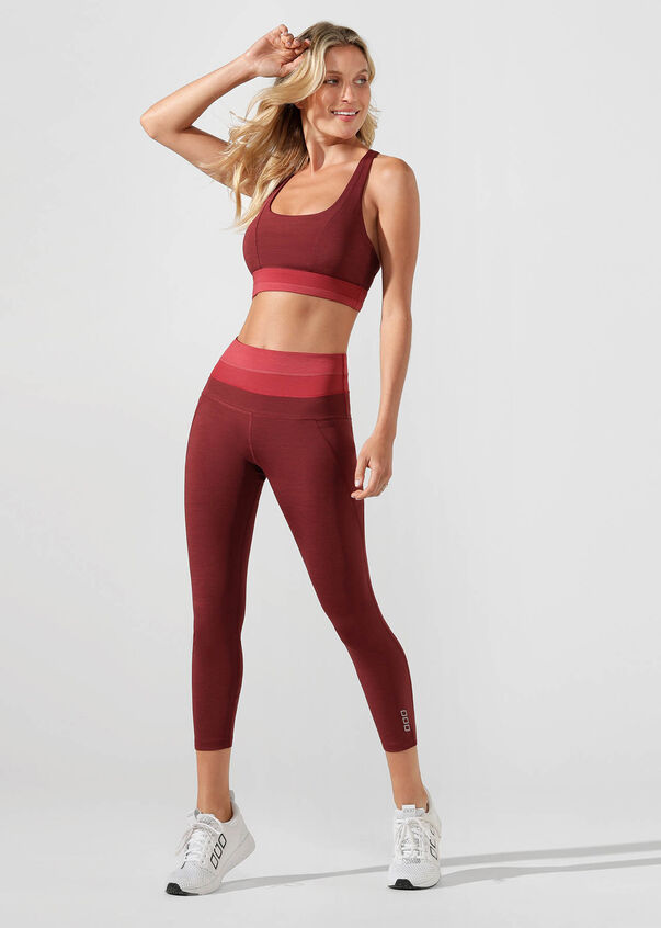 Energise Core Ankle Biter Tight, Dark Red Marl, hi-res