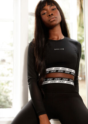 Iconic Active Long Sleeve Cropped Top